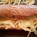 Hot dog coleslaw
