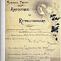 1900 Affiche PS manuscrite