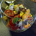 Salade avocat aux fruits de mer