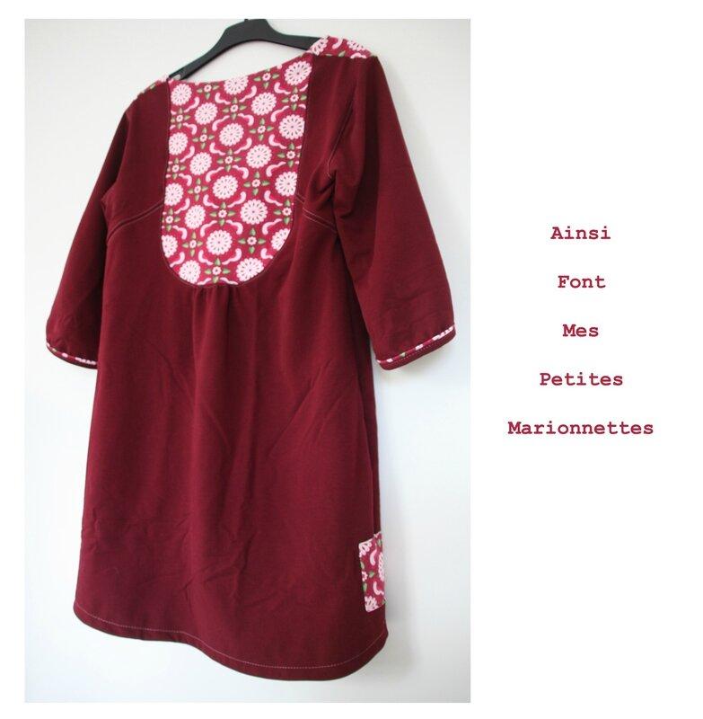 robe tunique rose colombe 2