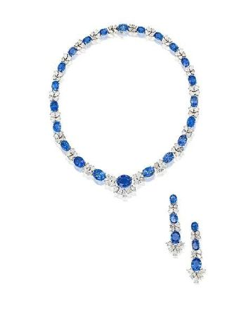 A_sapphire_and_diamond_necklace_and_earring_suite