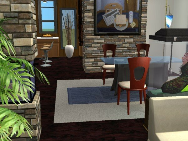 Maison moderne maisons deco sims2 for Decoration maison sims 4