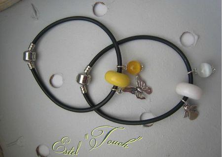 bracelet noir +couleur1