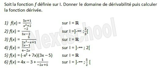 1ere derivation fonctions derivées 3 2