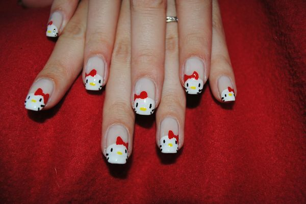 nail art hello kitty (4)