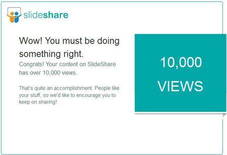 Slideshare 10 000 views