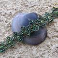 Bracelet Touareg vert