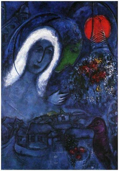 Chagall le champ de mars 1954