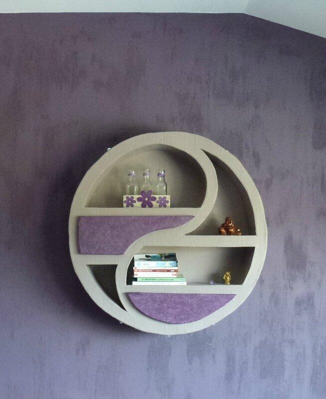 meuble en carton ying et yang