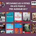 Le prix audiolib 2017