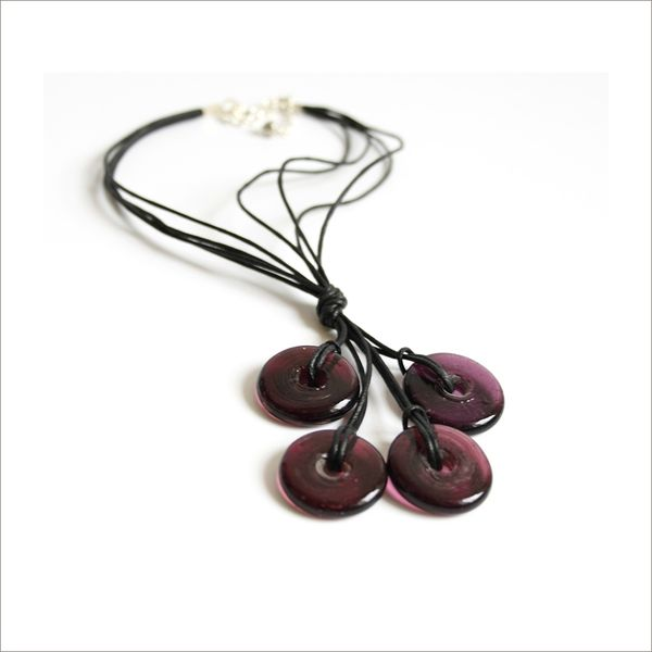 Collier multi donuts violet2