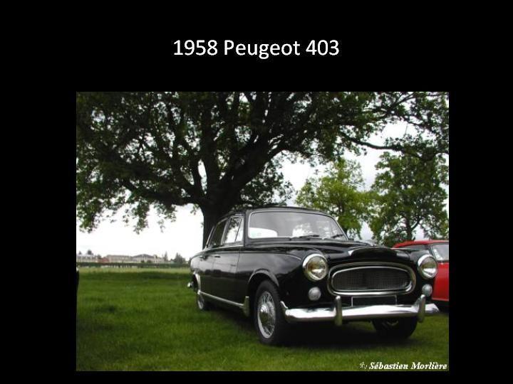 1958 - Peugeot 403