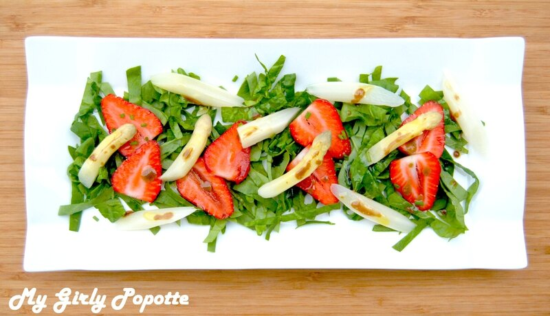 salade asperges fraises