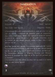 Caïrn L'Apôtre - immolation (sort)