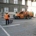 Camion ramasse poubelles de Prague