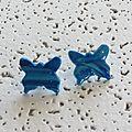 BO papillon marbré bleu 3 €