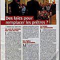 Article paru dans pélerin du 1/12/2011