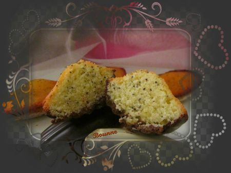 madeleines au pavot coque chocolat
