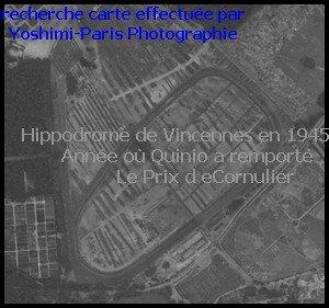 3 - Quinio gagnant de l'epreuve 1945 - hippodrome de vincennes 1945