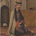 A seated nobleman, 1660s. safavid period, iran