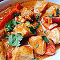 Curry rouge thai au poulet