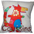 Coussin Loup application coussue