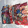 Créations d une artiste textile sous la neige