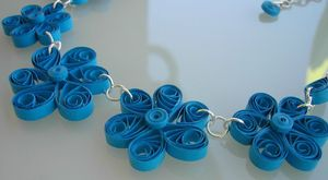collier quilling turquoise 3