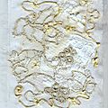 white silk ribbon embroidery