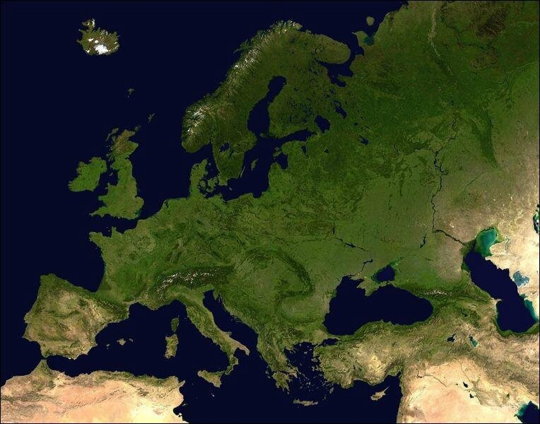 Europe image satellitaire