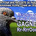 Union pour une majorité de pigeon: un programme propre comme un oeuf...