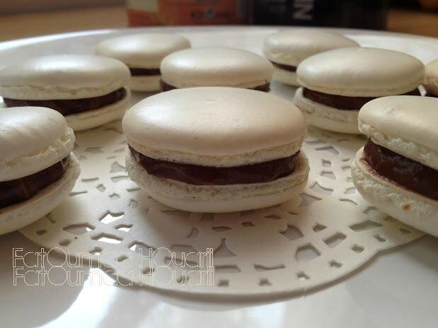 Macarons Blancs Ganache Chocolat Noir