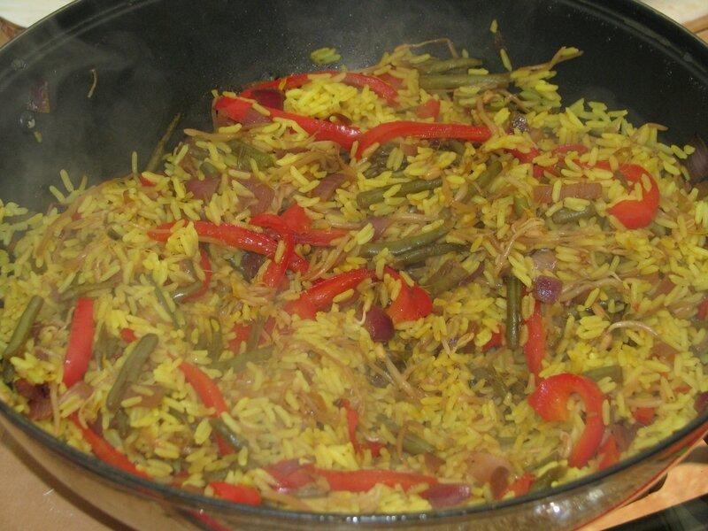 Deco Chambre Union Jack : de riz aux légumes à la sauce soja et au poivron rouge  La cuisine
