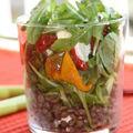 Idée recette n°4 - salade de lentilles, roquette, poivrons et feta