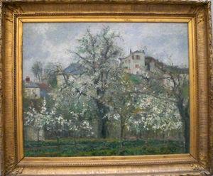 Pruniers en fleurs-Pissarro