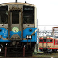 JRキハ54 (54-8) & キハ58, Matsuyama depot