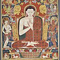 Tangka of vairocana. tibet, 13th century