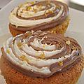 Cupcake vanille caramel et son glaçage bicolore