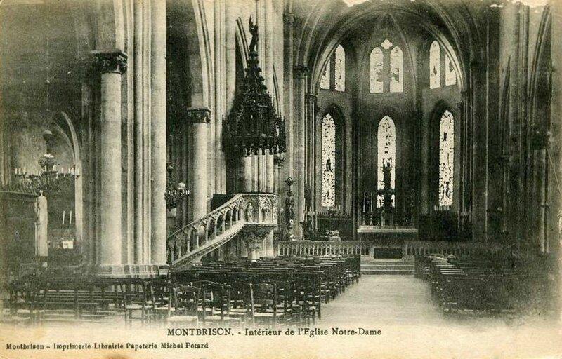 Montbrison intérieur église Notre-Dame