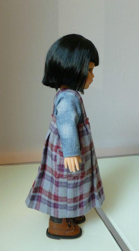 La robe-tablier d'écolière