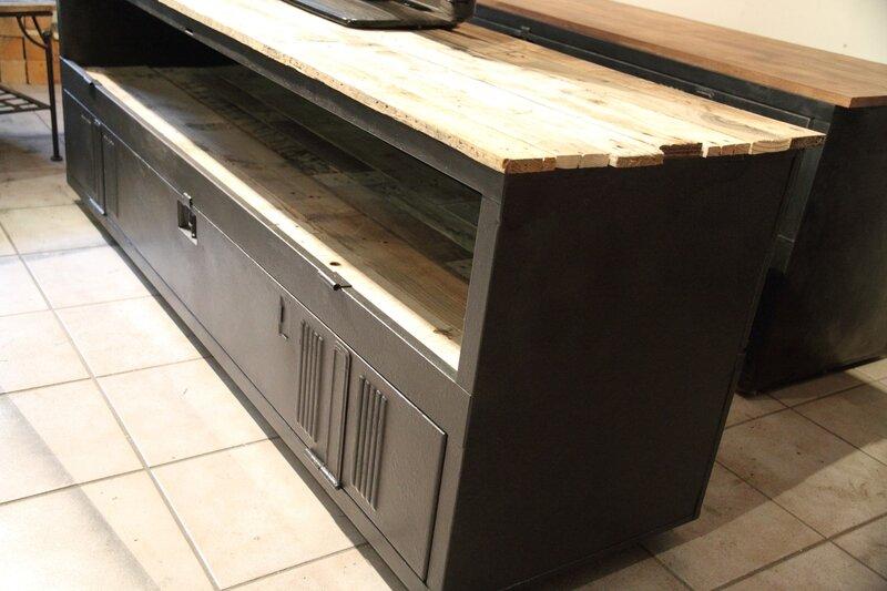 meuble tv vestiaire – Artzeinc -> Vestiaire Industrielle Meuble Tv