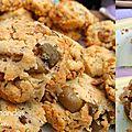 Cookies salés olives et amandes fourrés au saint-marcellin