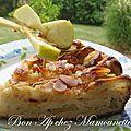 Pommes, amandes, petits-suisses, beurre salé = le