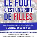 Journee decouverte du football feminin le 27 mai
