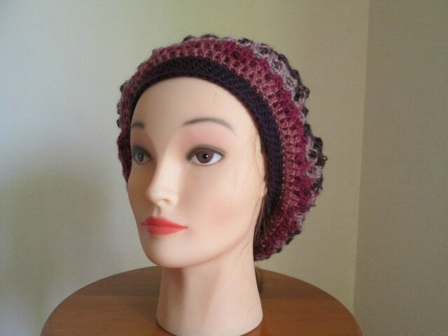 Beret et snood en angora active (2)