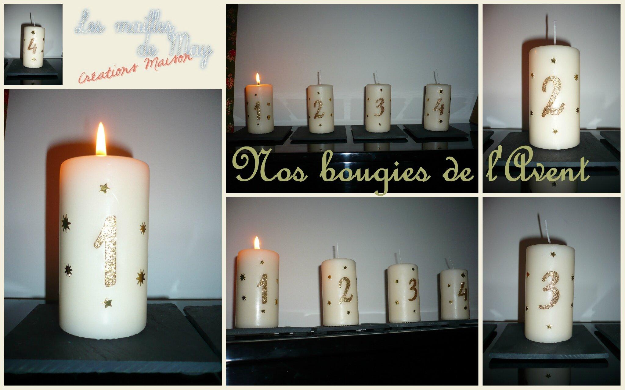 bougies de l'Avent 2012
