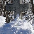2009 02 27 Une croix au bord de la route à Champclause