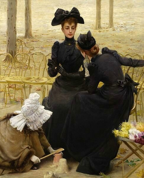 Corcos Vittorio conversation-in-the-jardin-du-luxembourg 1892 D