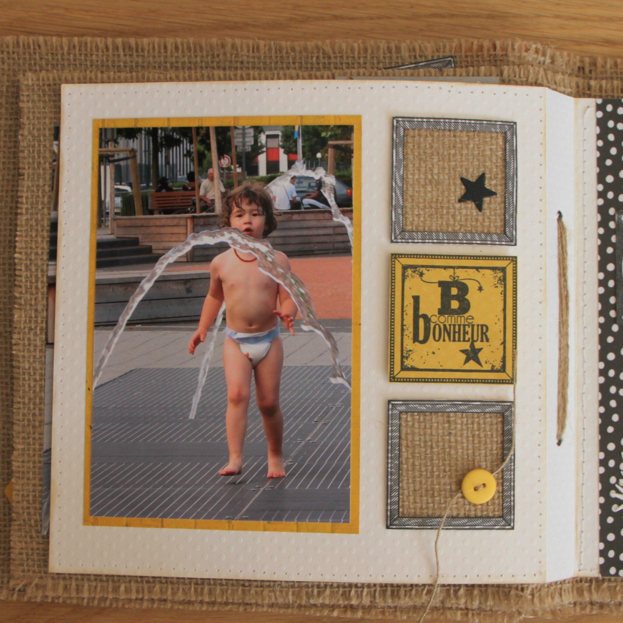 album en toile de jute des cartes du scrap cartoline. Black Bedroom Furniture Sets. Home Design Ideas