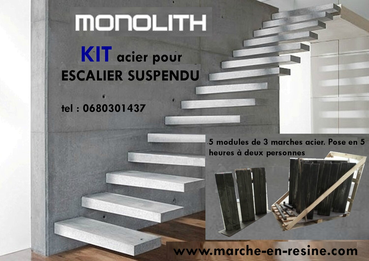 escalier flottant prix escalier flottant escalier suspendu en metal prix escalier design. Black Bedroom Furniture Sets. Home Design Ideas
